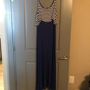 Charming Charlie's Navy Maxi Dress